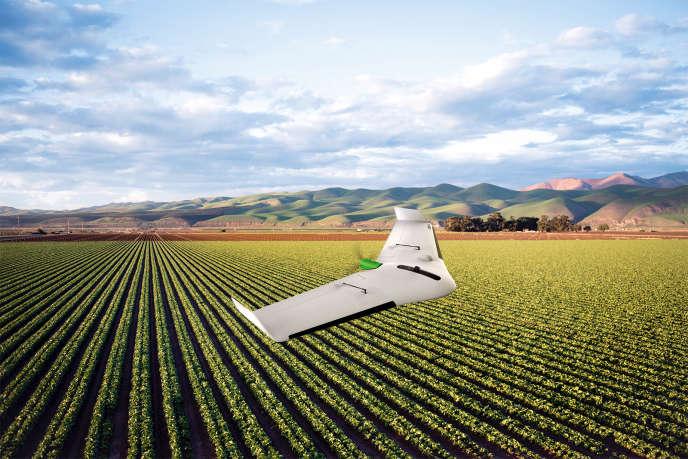 L'UX11 Ag de Delair peut cartographier 150 hectares en un seul vol.