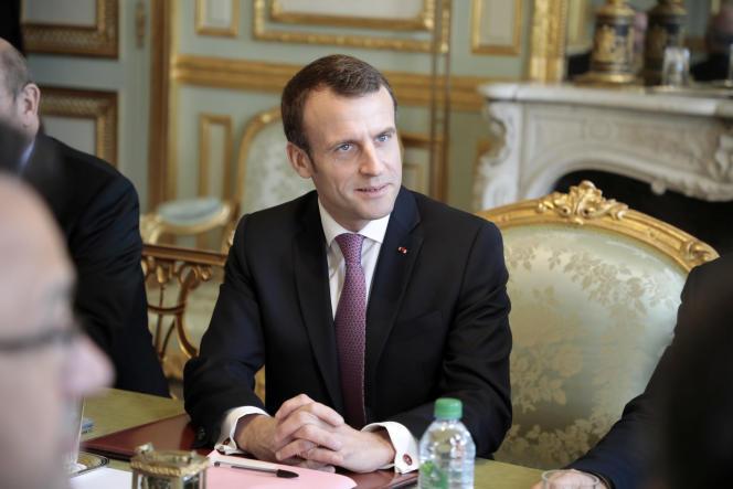 Emmaunel Macron à l'Elysée le 15février.
