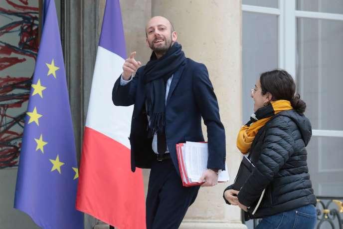 Le délégué général de La République en marche, Stanislas Guérini, à l'Elysée le 11février.
