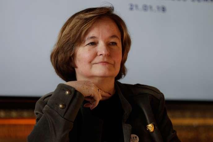 La ministre des affaires européennes Nathalie Loiseau, lors de la 2e édition de «Choisissez la France», le 21 janvier, à Versailles ( Yvelines).