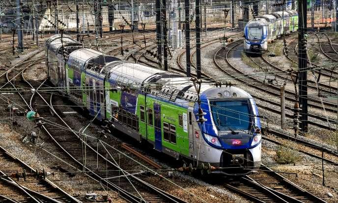 Un train TER en gare de Lille, en février 2018.