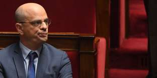 French Education Minister and Youth Affairs, Jean-Michel Blanquer, attends a session of questions to the Government at the French National Assembly in Paris on January 23, 2019. / AFP / ERIC FEFERBERG