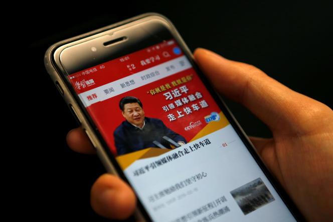 L'application « xuexi qiangguo», qu'on peut traduire par« Etudier Xi, rendre le pays plus fort ».