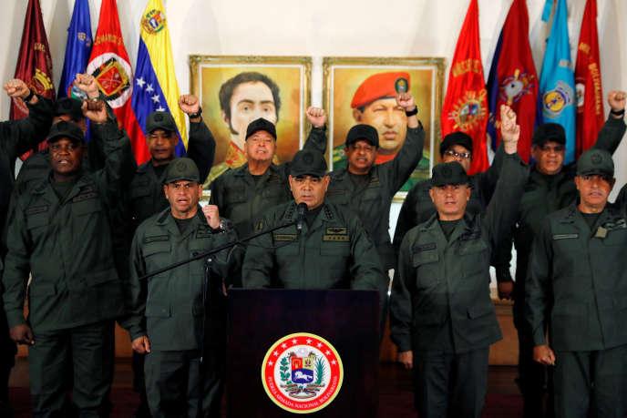 Le ministre de la défense, le général Vladimir Padrino, à Caracas, le 19février 2019.