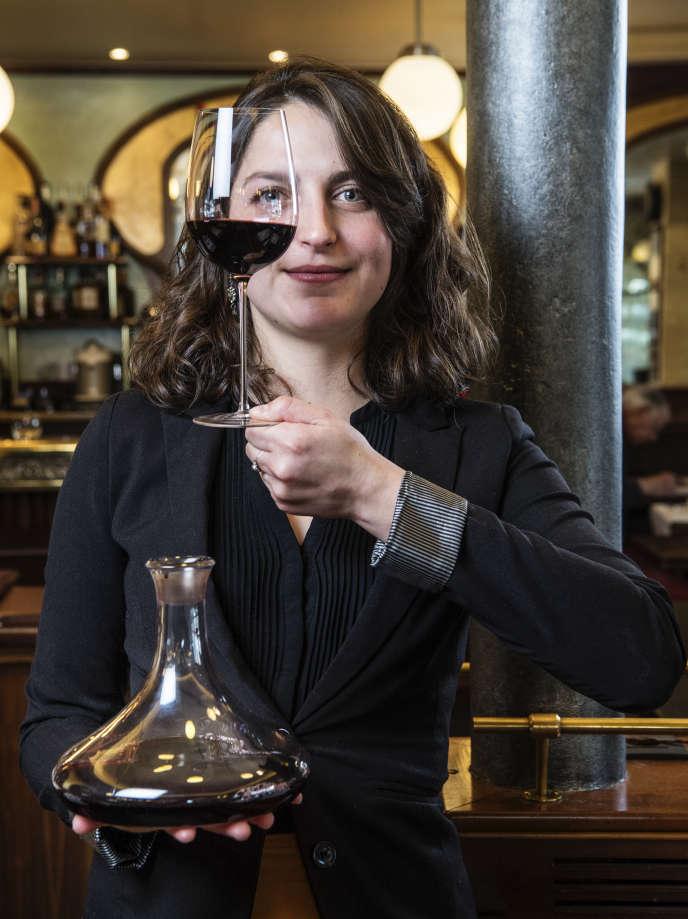 Léa Koch, le 18 février 2019, au restaurant Le Petit Sommelier, à Paris.