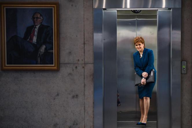 La première ministre écossaise, Nicola Sturgeon, à Edimbourg, le 17 janvier.