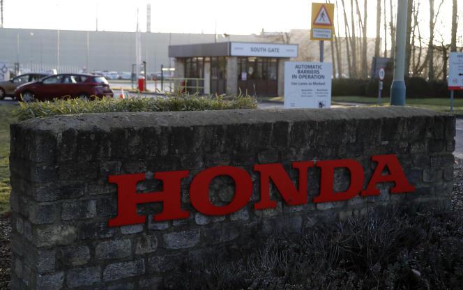 L'entrée de l'usine Honda à Swindon, à une centaine de kilomètres de Londres, le 19 février.