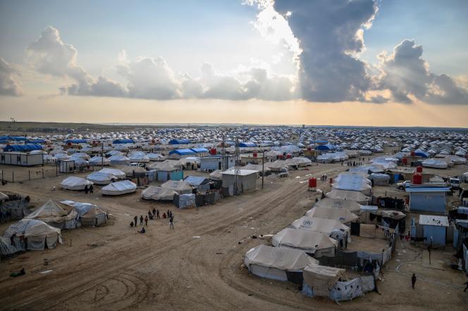 Le camp d'al-Hol, où sont retenus de nombreux militants djihadistes, dans le nord-est de la Syrie, le 17 février.