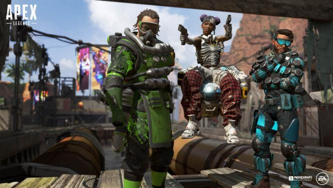 Image promotionnelle du jeu« Apex Legends», le dernier succès des jeux multijoueurs gratuits sur console, sur le modèle de« Fortnite».