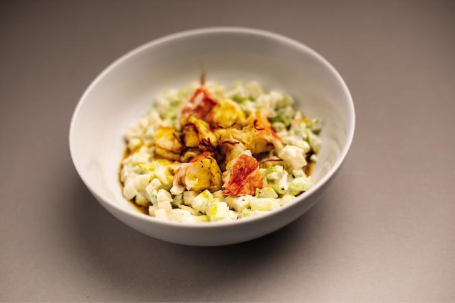 La salade de homard de Benoît Peeters est unecréation simple, goûteuse, avec juste ce qu'il faut de croquant et d'étonnant.