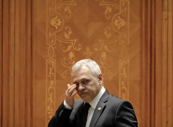 Liviu Dagnea, leader du parti social-démocrate roumain, le 20 décembre 2018 à Bucarest.