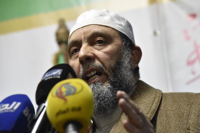 Abdallah Djaballah, président du Parti pour la justice et le développement (islamiste), le 1er février 2019, à Alger.