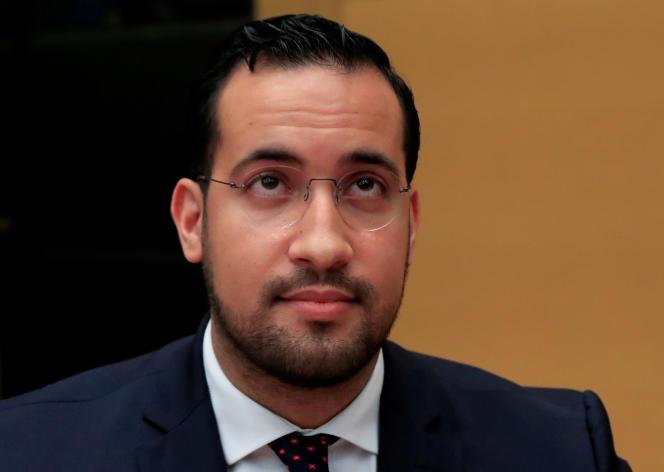 Alexandre Benalla, lors de son audition par des sénateurs de la Chambre haute au Sénat, le 19 septembre 2018.