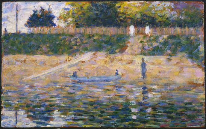 Georges Seurat: «Bateau près de la berge» (vers 1883).
