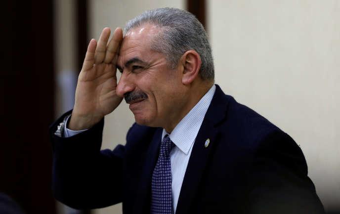 Mohammed Shtayyeh, haut responsable du Fatah, lors d'une réunion des dirigeants palestiniens à Ramallah, en Cisjordanie, le 20 février 2019.