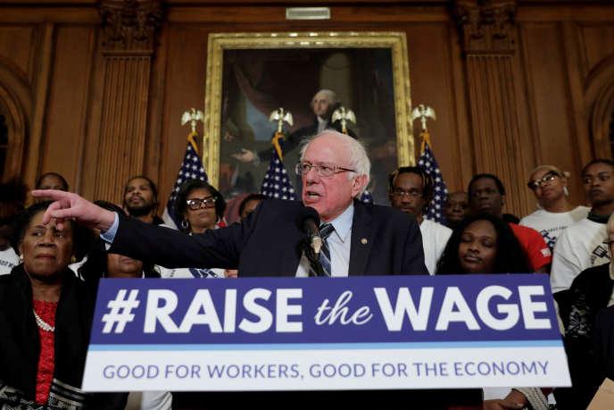 Le sénateur américain Bernie Sanders lors d'une conférence de presse, à Washington, le 16 janvier.