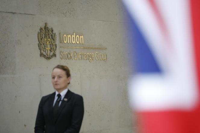 A l'entrée de la Bourse de Londres, en 2018.