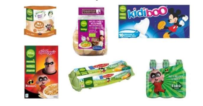 Sachets de pommes de terre, oeufs, boissons font partie des produits de la gamme alimentaire lancée par Disney sous le label Disney Cuisine.