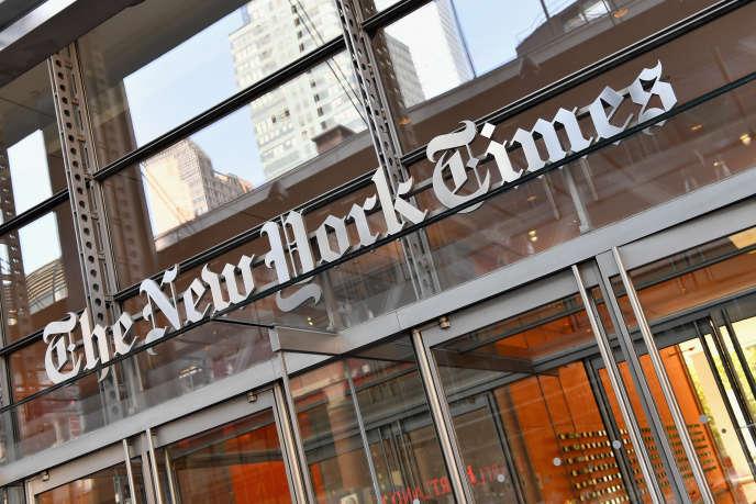 Le siège du «New York Times», à New York, aux Etats-Unis, le 6 septembre 2018.