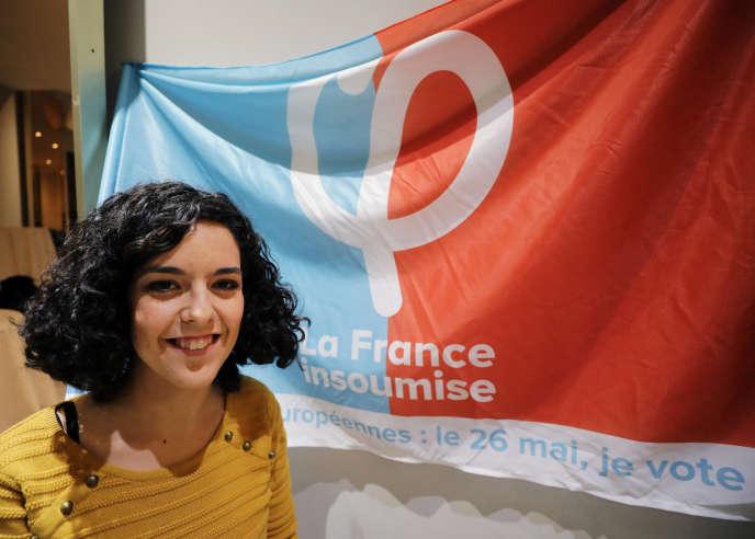 Manon Aubry, la tête de liste de La France insoumise pour les élections européennes du 26 mai.