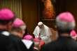 Le Pape François, au Vatican le 21 février, lors de l'ouverture du sommetsur la lutte contre la pédophilie.
