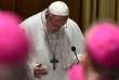 Le pape François, à l'ouverture d'un sommet inédit sur les agressions sexuelles dans l'Eglise, le 21 février, auVatican.