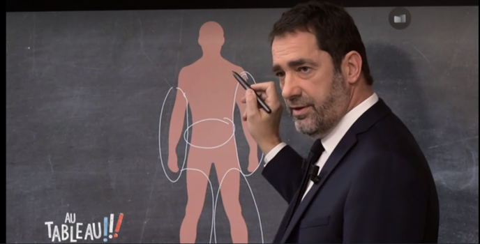 Le ministre de l'intérieur, Christophe Castaner, explique l'usage du LBD dans l'émission« Au tableau».