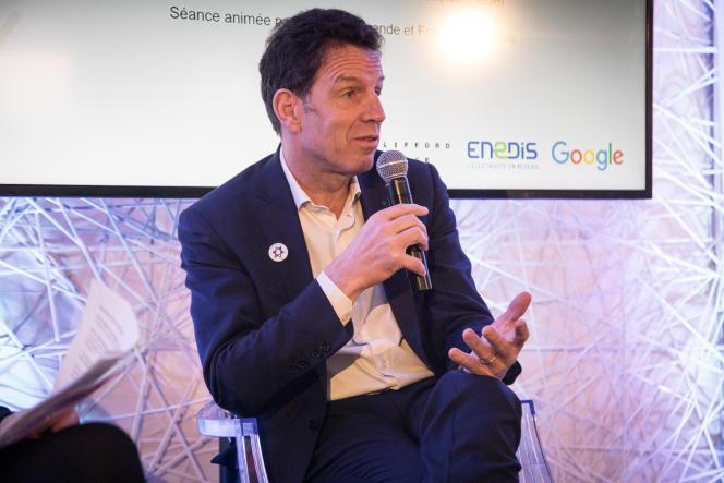 Geoffroy Roux de Bézieux, le président du Medef, jeudi 21 février, au Club de l'économie du « Monde», à Paris.