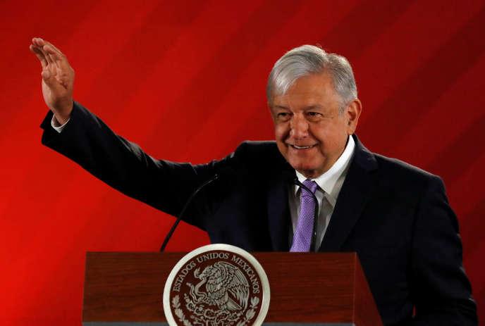 Le président mexicain, Andres Manuel Lopez Obrador, à Mexico, le 15 février 2019.