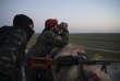 Des membres des Forces démocratiques syriennes (FDS), à proximité de Baghouz, Syrie, le 19 février.