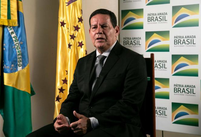 Le vice-président brésilien Hamilton Mourao, à Brasilia le 21 février 2019.