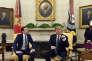 Le chancelier autrichien, SebastianKurz, lors de sa rencontre avec DonalTrumpdans le bureau Ovale de la Maison Blanche, le 20 février.