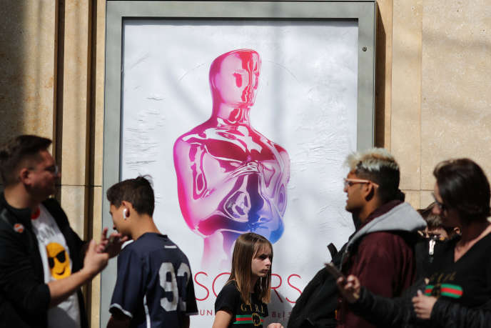 L'affiche des Oscars 2019, dans une rue de Los Angeles (Californie), le 19 février.