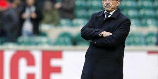 La moustache triste de Jacques Brunel après la défaite contre l'Angleterre, le 10 février 2018.