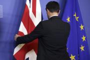 A Bruxelles, juste avant la rencontre entre Jean-Claude Juncker et Theresa May, le 20 février.