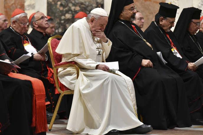Le pape François, au Vatican, le 23 février.