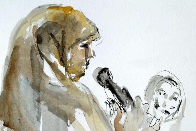 Malika El Aroud, le 26 mai 2003, au cours de son procès à Bruxelles.
