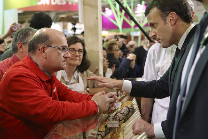 Emmanuel Macron, au Salon de l'agriculture, à Paris, en février 2018.