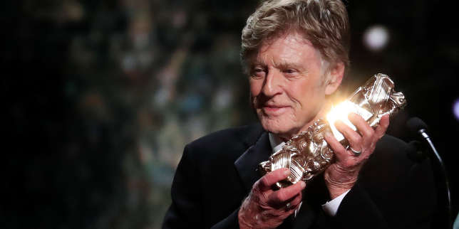 L'acteur Robert Redford recevant son César d'honneur, le 22 février à Paris.