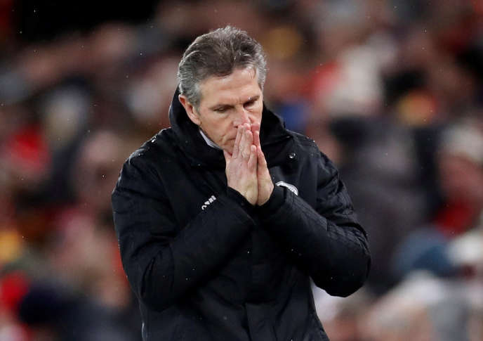 Claude Puel, durante la partita contro il Liverpool, 30 di 2019 di gennaio.