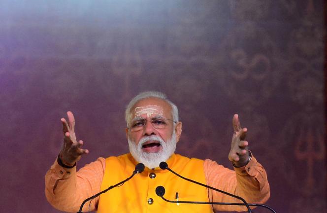 Le premier ministre indien, Narendra Modi, le 24 février, àAllahabad.