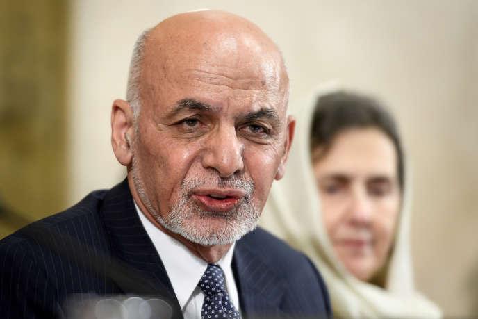 Le président afghan Ashraf Ghani lors d'une conférence des Nations unies, le 28 novembre 2018, à Genève.
