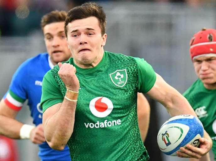 الأيرلندي جاكوب ستوكديل خلال المباراة ضد إيطاليا ، و 24 فبراير 2019.