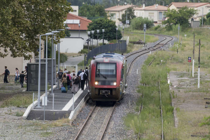 Le nouveau terminus de la liaison entre Carcassonne et Quillan (Aude), le 28 août 2018.