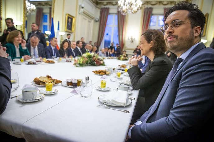 Mounir Mahjoubi, au ministère de l'intérieur, vendredi 4 janvier. Le secrétaire d'Etat au numérique a appelé, dans une tribune, au dialogue avec des « gilets jaunes ».