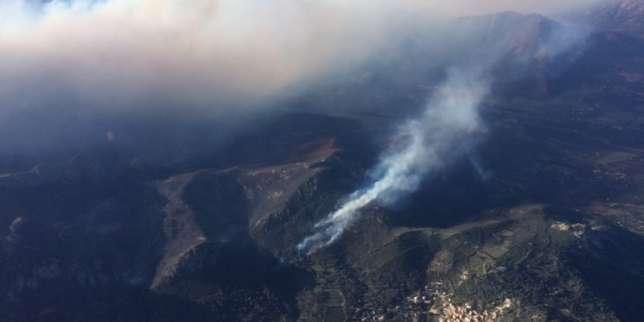 Un incendie ravage 900 hectares en Corse, attisé par les vents de la tempête Hervé