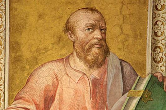 Socrate. Peinture. Musée du Vatican. Rome. Italie.