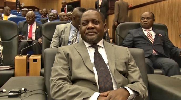 Firmin Ngrebada à Khartoum, le 24janvier 2019, lors du dialogue avec les groupes armés centrafricains.