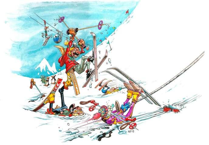 Il arrive qu'aucune faute ne puisse être reprochée à l'un des skieurs, ne serait-ce que parce que les circonstances de la collision sont indéterminées.