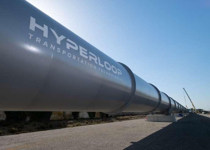 La piste d'essai de l'Hyperloop TT, à Toulouse Francazal.